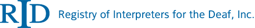 The Registry of Interpreters for the Deaf, Inc. (RID), LOGO